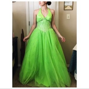 Lime Prom Dress